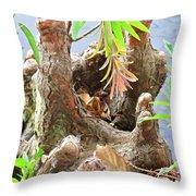 Tree Stalactites Throw Pillow