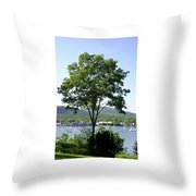 Tree Standing Tall Throw Pillow
