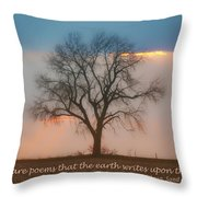 Tree - Sunset - Quotation Throw Pillow