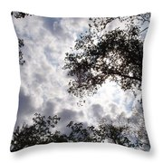 Tree Swirl Throw Pillow