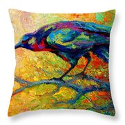 Tree Talk - Crow Throw Pillow