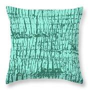 Tree Texture Turquoise Throw Pillow