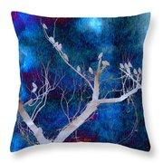 Tree Top Flock Throw Pillow