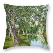 Tree Tops Park Throw Pillow