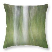 Tree Trunk Motion Throw Pillow