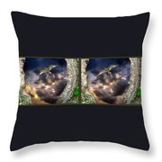 Tree Trunk Portal - 3d Stereo X-view Throw Pillow