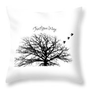Tree-trust Your Wings Throw Pillow