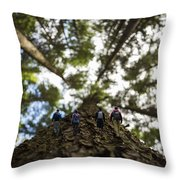 Tree Walkers Throw Pillow