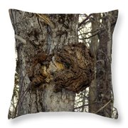 Tree Wart Throw Pillow