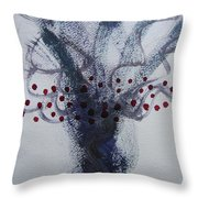 Tree With Balls Five Throw Pillow