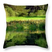 Tree With Lily Reflections Throw Pillow