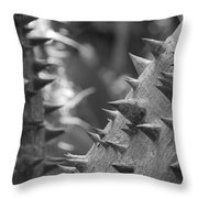 Tree With Spikes And Thorns Throw Pillow