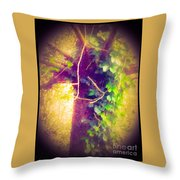Tree With Vine Throw Pillow