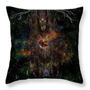 Tree Wizard Throw Pillow