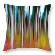 Treecolour Throw Pillow