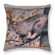 Treed Throw Pillow by John Huntsman