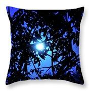 Treed Moon Throw Pillow
