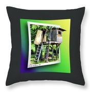 Treehouse Fort Throw Pillow