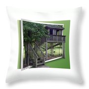 Treehouse Playground Throw Pillow