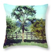 Treeo In The Paddock Throw Pillow