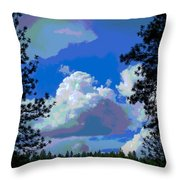 Trees And A Cloud For Crying Out Loud Throw Pillow