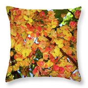 Trees And Flowers In Hawaii Throw Pillow