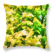 Trees And Leaves 1 Throw Pillow