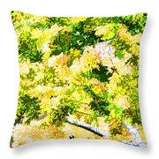 Trees And Leaves 2 Throw Pillow