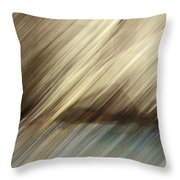 Trees And Pond Throw Pillow