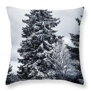 Trees And Snow Throw Pillow