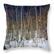 Trees And Something In The Snow Throw Pillow