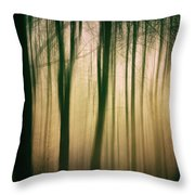 Trees At Dawn Throw Pillow