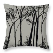 Trees At Dusk   Throw Pillow