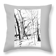 Trees At My House Throw Pillow