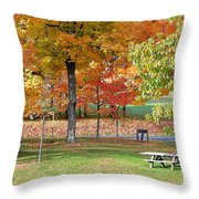 Trees Begins Autumn Color Throw Pillow