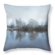 Trees By The River Throw Pillow