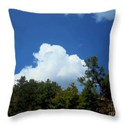 Trees, Clouds, And Sky Throw Pillow