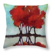 Trees For Alice Throw Pillow by Michelle Abrams