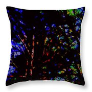 Trees In Abstract 3 Throw Pillow