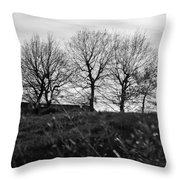 Trees In April Throw Pillow