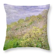 Trees In Blossom Throw Pillow