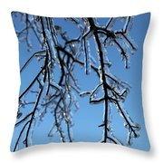 Trees In Ice Throw Pillow
