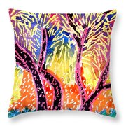 Trees In Summer Throw Pillow