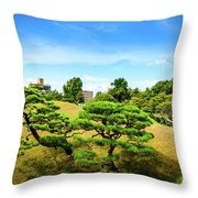Trees In The City Throw Pillow