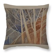 Trees In The Dead Of Winter Throw Pillow