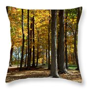 Tree's In The Forest Throw Pillow
