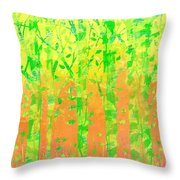 Trees In The Grass Throw Pillow
