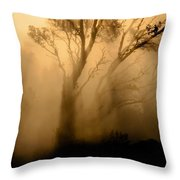 Steaming Trees Throw Pillow