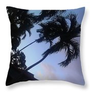Trees In The Tropics Throw Pillow