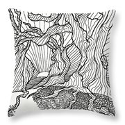 Trees In The Woods   Throw Pillow